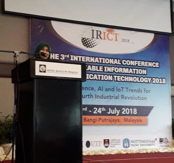 3RD INTERNATIONAL CONFERENCE OF RELIABLE INFORMATION AND COMMUNICATION TECHNOLOGY 2018 (IRICT 2018)