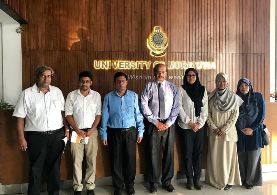 Visit and Academic Discussion with the Dean and Heads of Departments, Faculty of Management, University of Moratuwa in Sri Lanka.