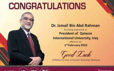 Congratulations Dr. Ismail Abd Rahman